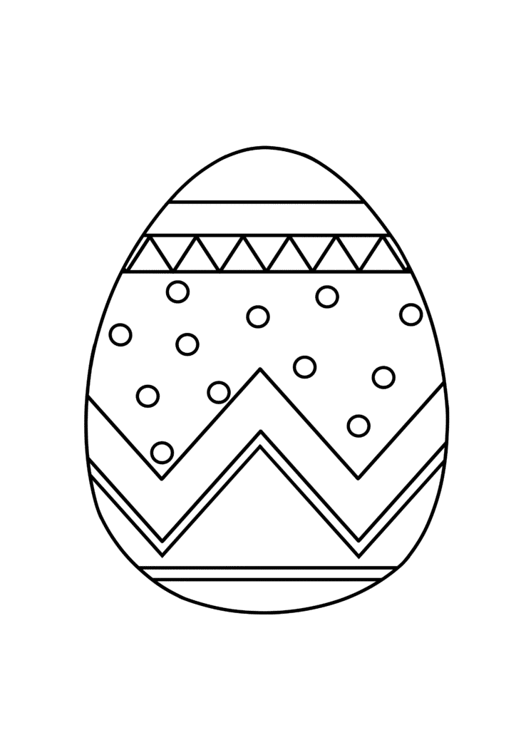 free printable Easter egg coloring page for adults detailed