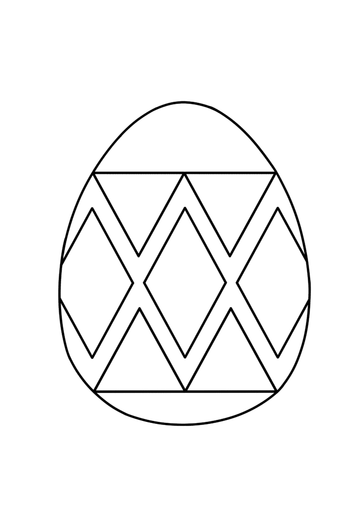 free printable Easter egg coloring page pdf