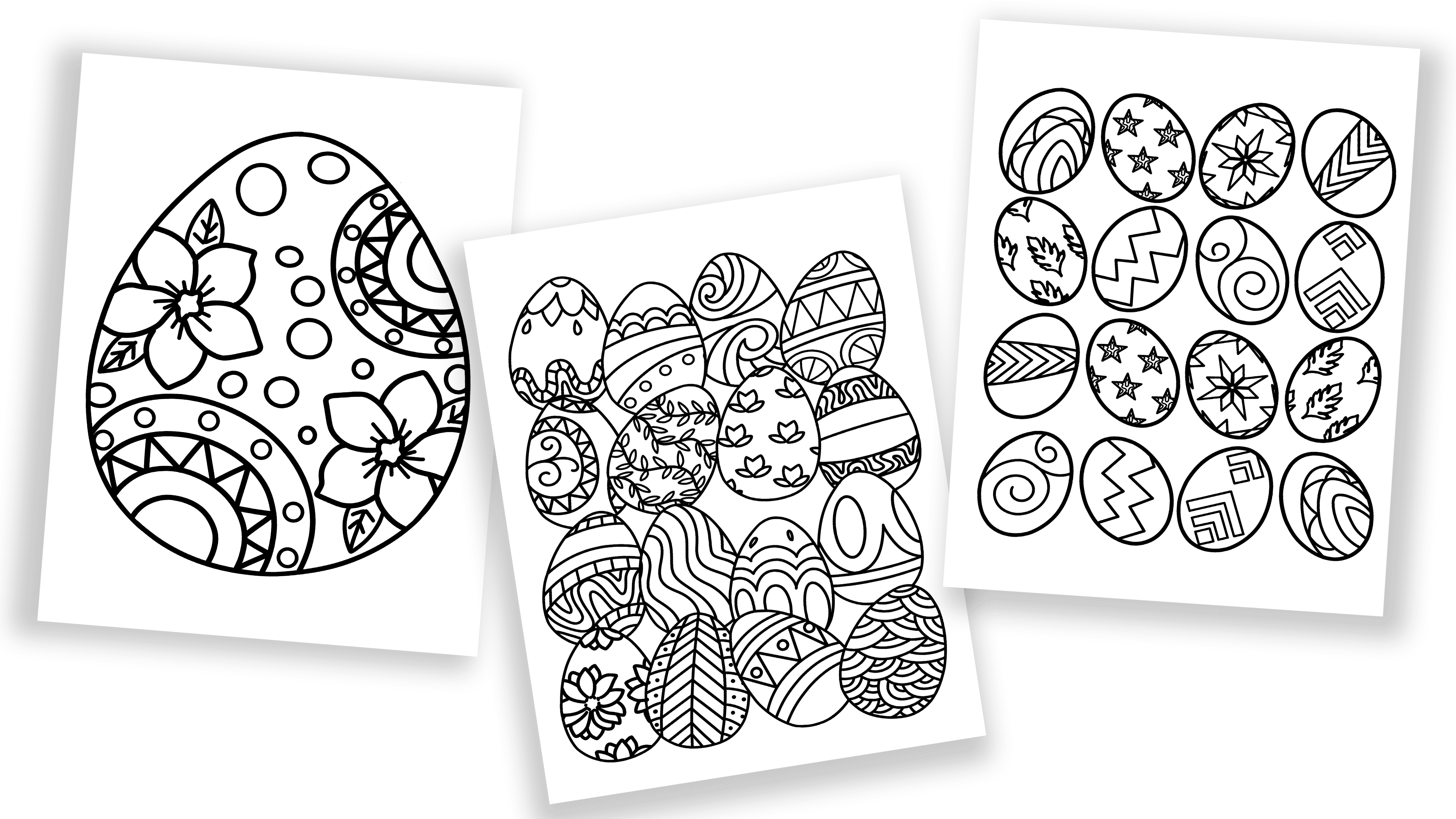 Does your kid need more spring coloring pages? Download these free printable Easter egg coloring pages!