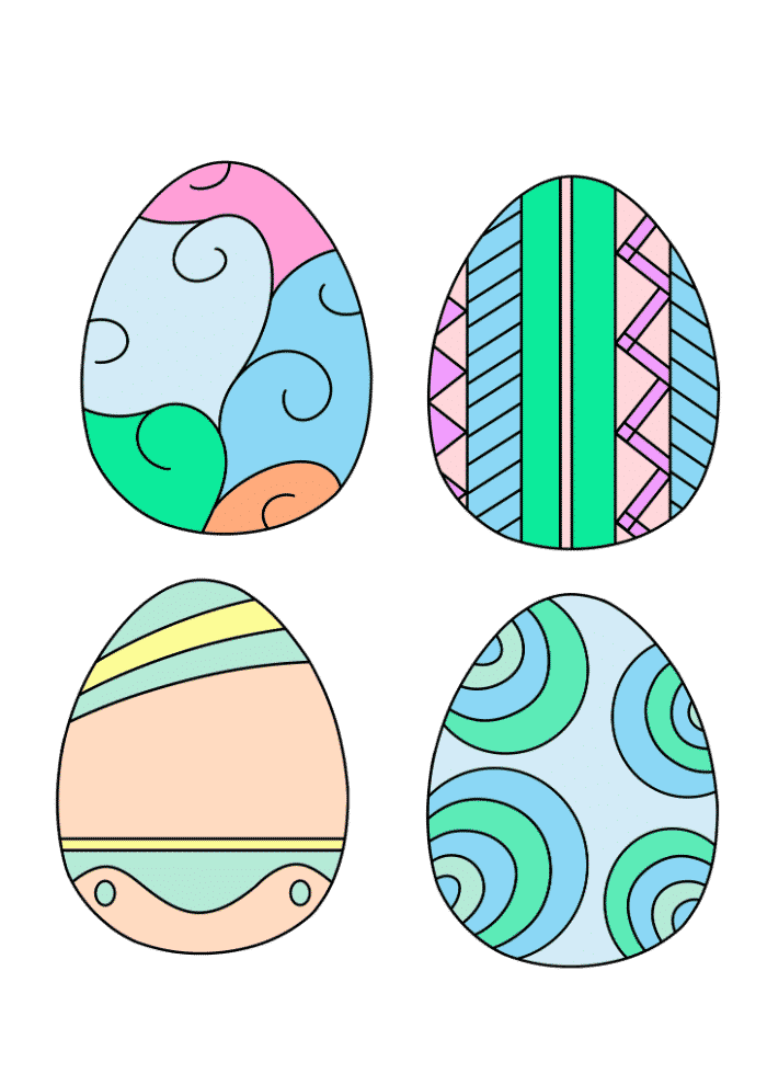 free printable Easter egg already colored