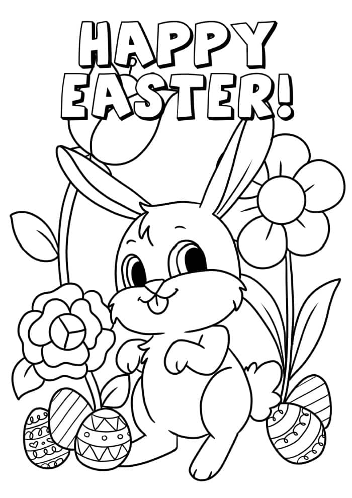 3 Free Printable Happy Easter Coloring Pages - Freebie Finding Mom