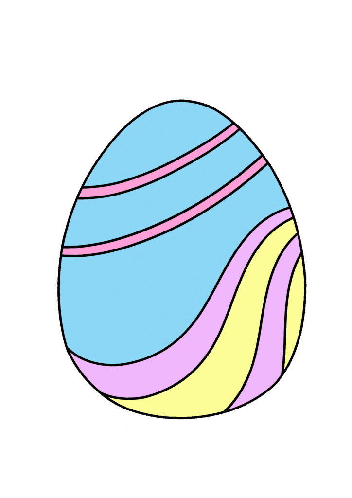 free printable colored Easter egg blue