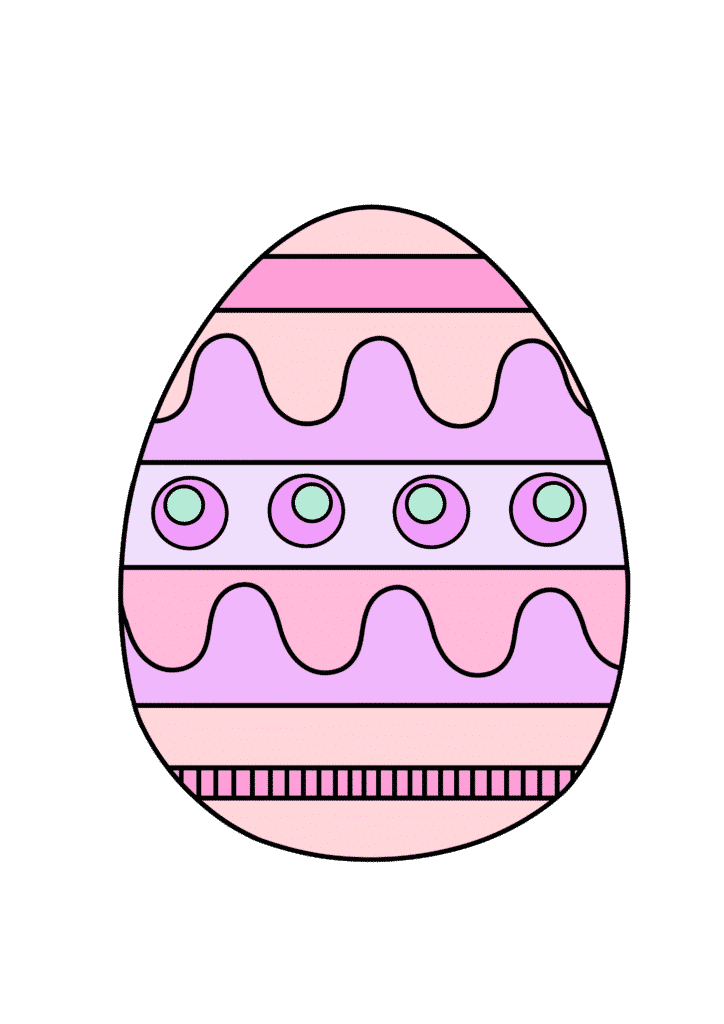 free printable colored Easter egg pink