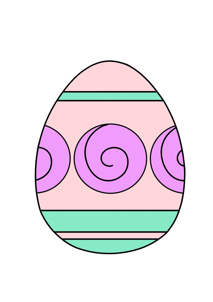 free printable colored Easter egg pink purple