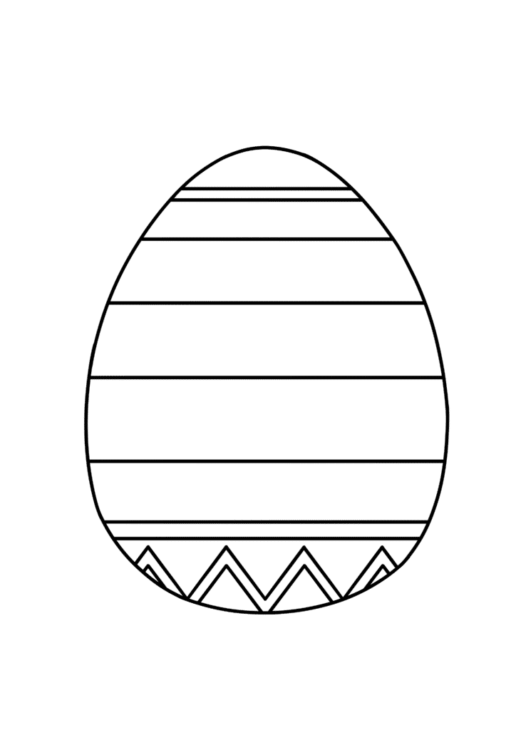 free printable easy Easter egg coloring page