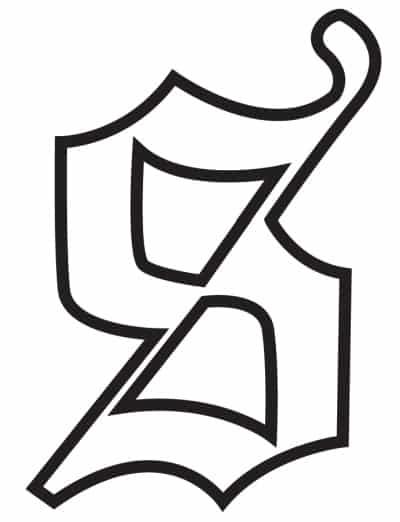 free printable gothic calligraphy lowercase letters gothic calligraphy lowercase S