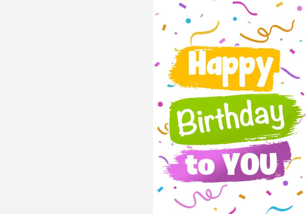 This foldable free printable happy birthday card is gender and age neutral so you can use it for anyone special in your life!