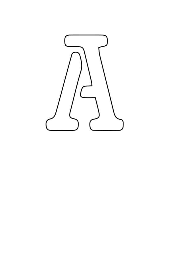 free printable letter stencils letter A stencil
