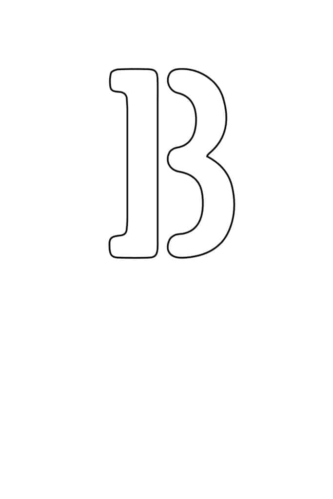 free printable letter stencils letter B stencil