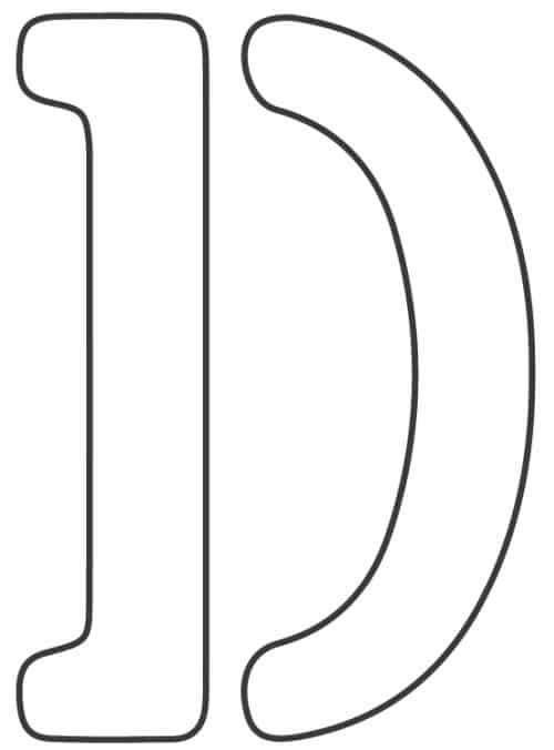 free printable letter stencils letter D stencil