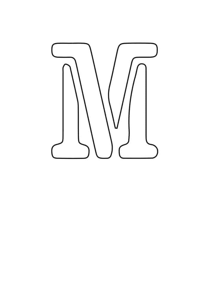 free printable letter stencils letter M stencil