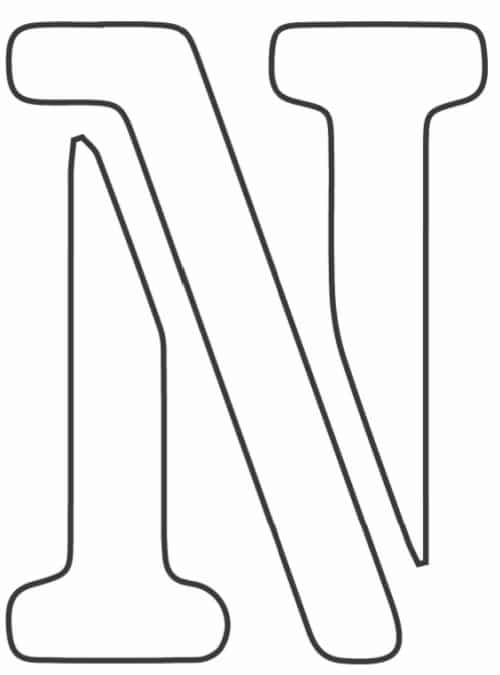 free printable letter stencils letter N stencil