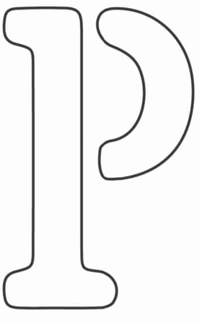 free printable letter stencils letter P stencil