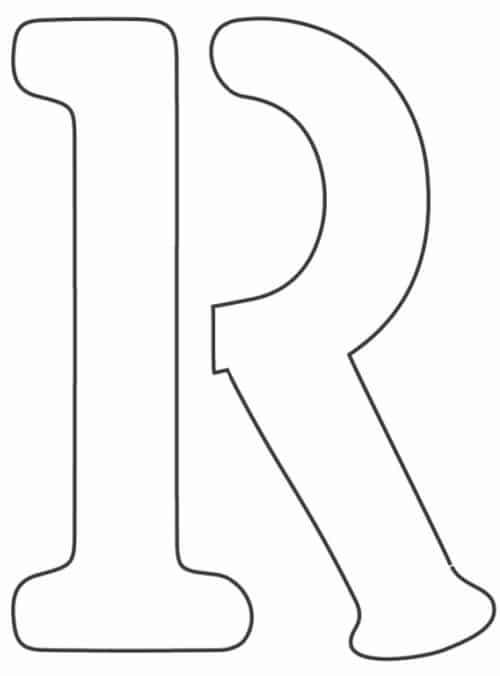 free printable letter stencils letter R stencil