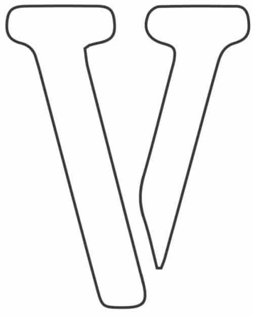 free printable letter stencils letter V stencil