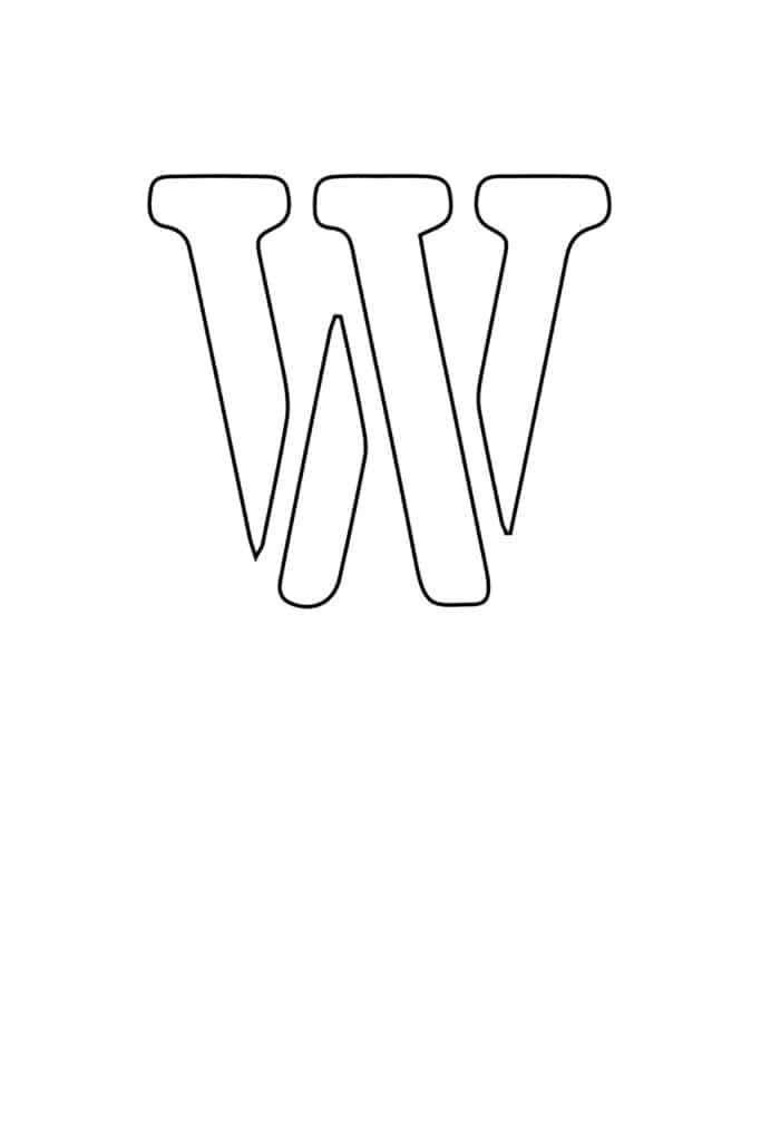 free printable letter stencils letter W stencil