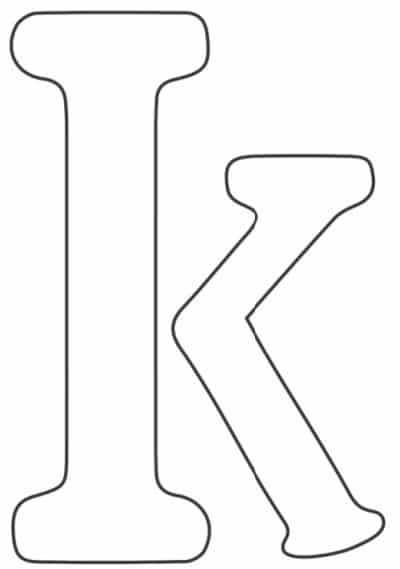 free printable letter stencils lowercase K stencil