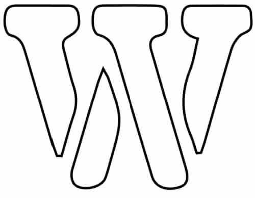free printable letter stencils lowercase W stencil