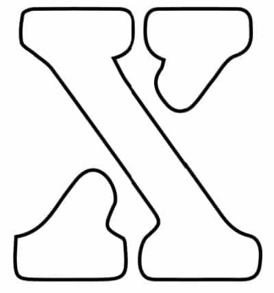 free printable letter stencils lowercase X stencil