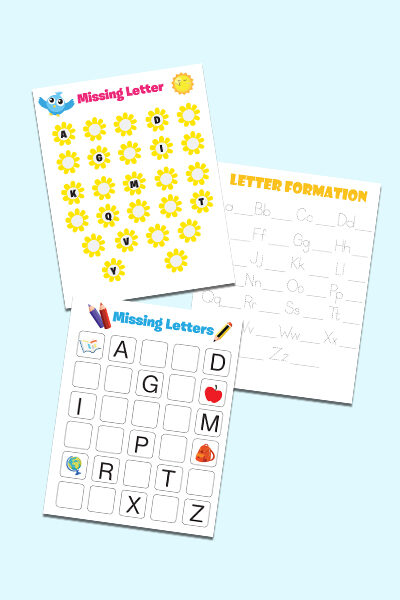 free printable preschool ABC worksheets