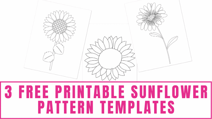 These happy free printable sunflower pattern templates will put a smile on anyone's face.
