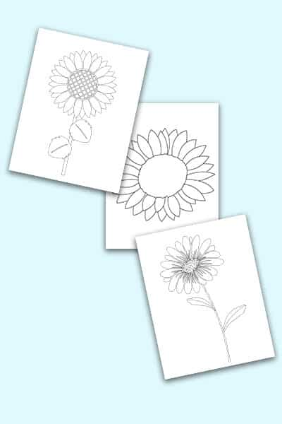 free printable sunflower pattern templates