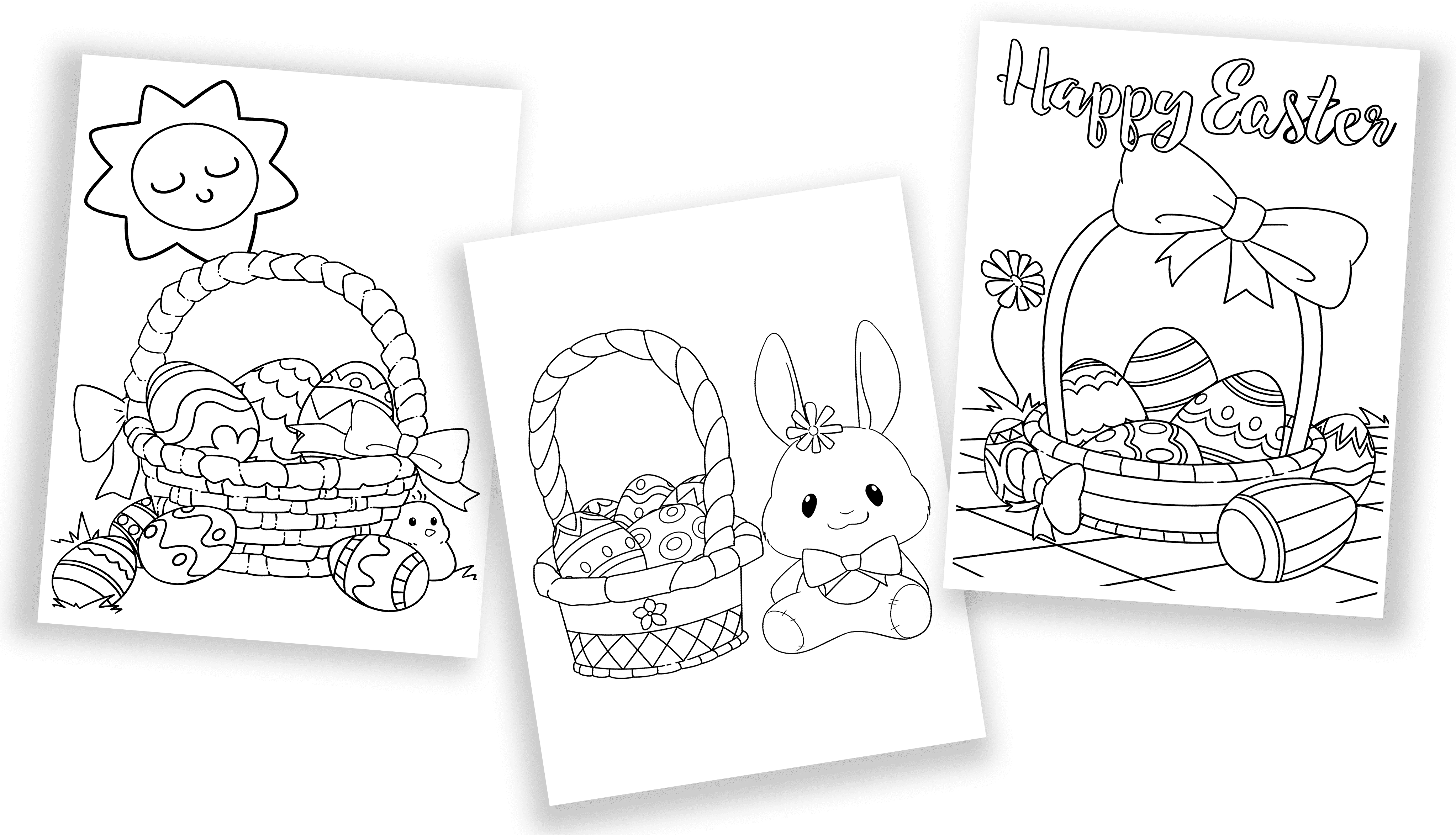 These beautifully designed free Easter basket coloring pages are perfect for kids and adults to color for Easter.