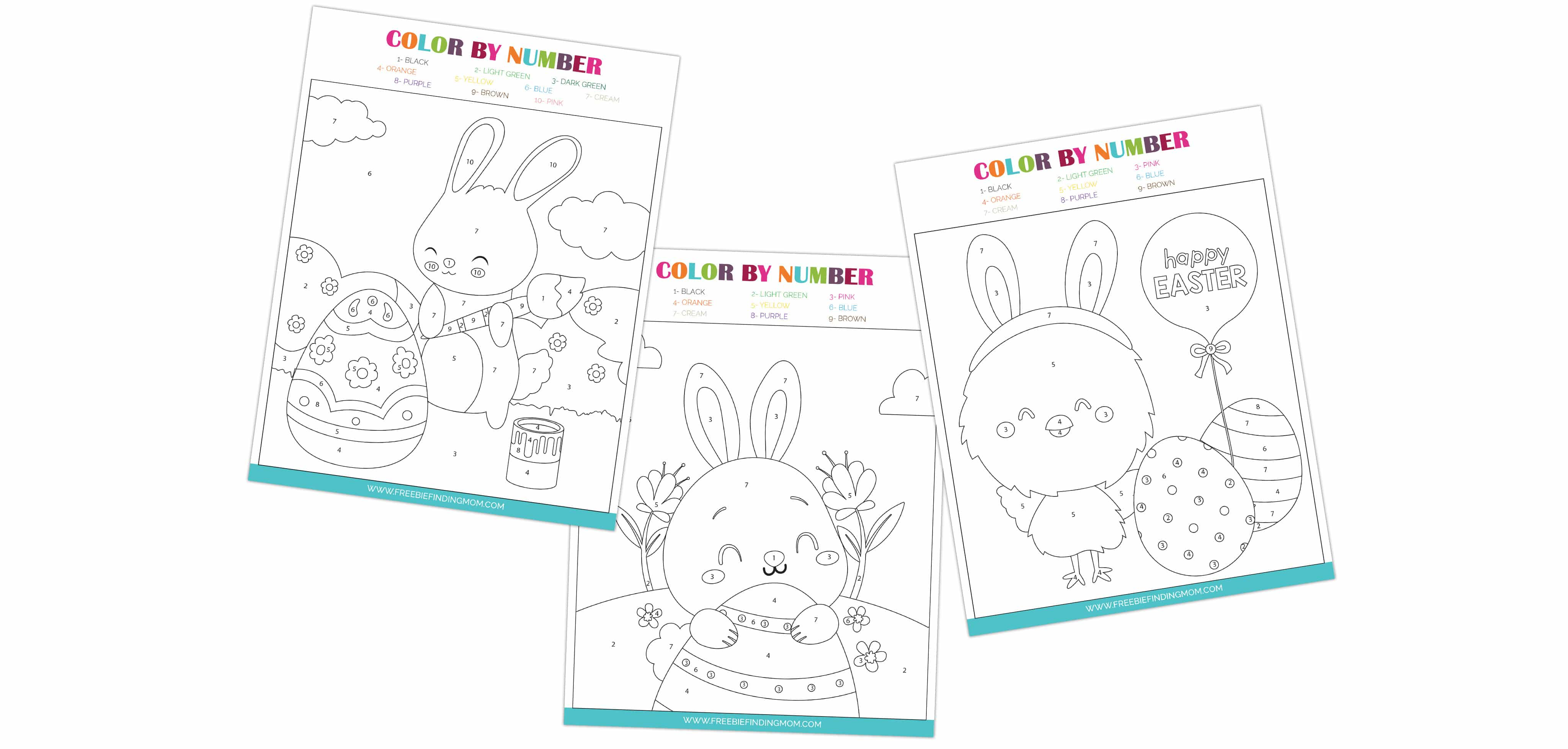 These free Easter color by number printables are a fun and educational way to engage kids during the spring as they eagerly await the arrival of the Easter bunny.