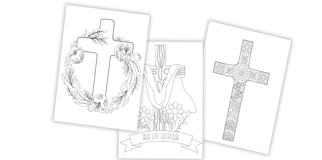 These free printable Easter cross coloring pages are great for church, homeschooling, or anyone who wants to remember the true meaning of Easter.