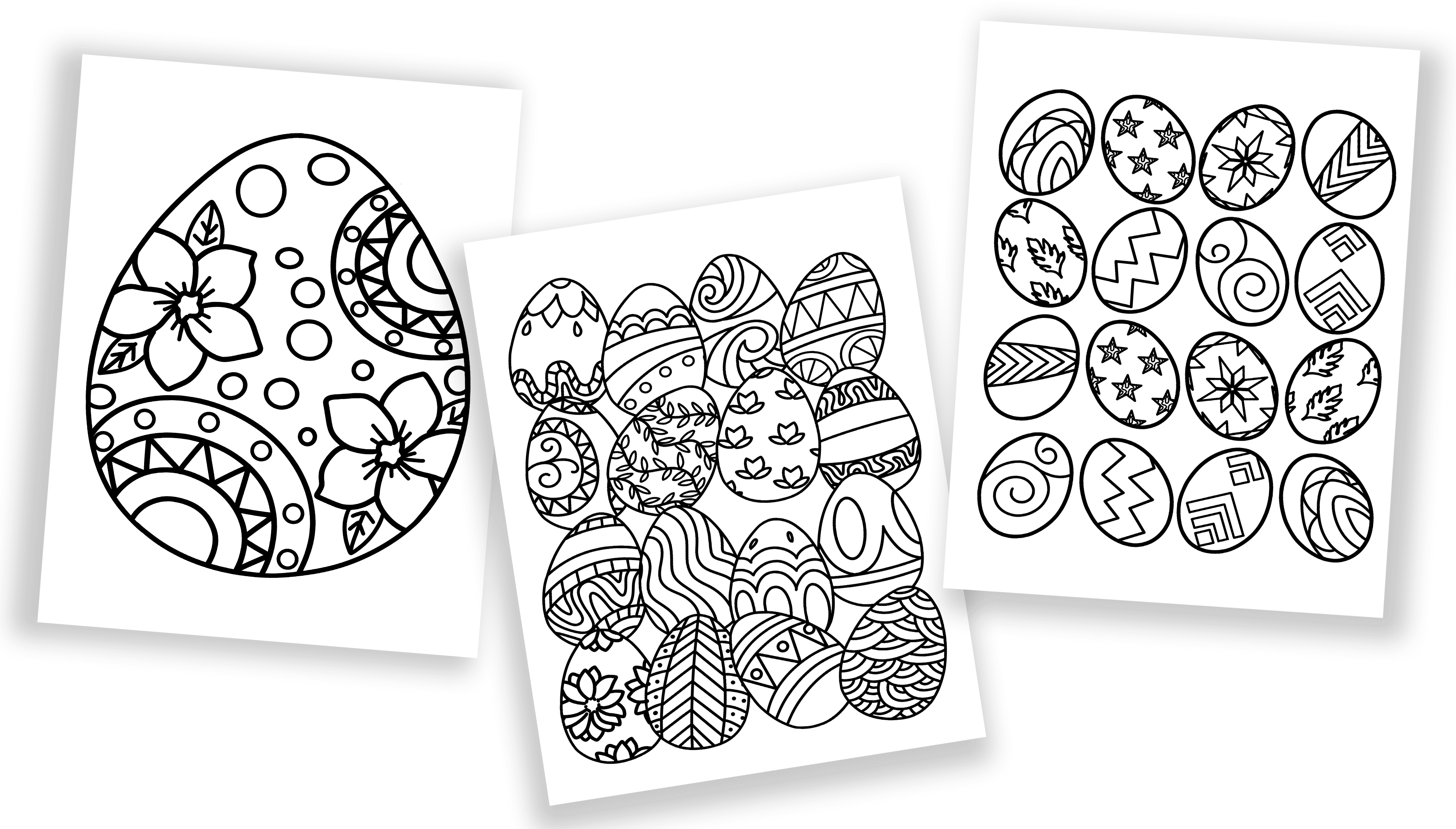 Not dyeing Easter eggs this year? No problem! These free printable Easter egg coloring pages will give the kids as much fun and without the mess.
