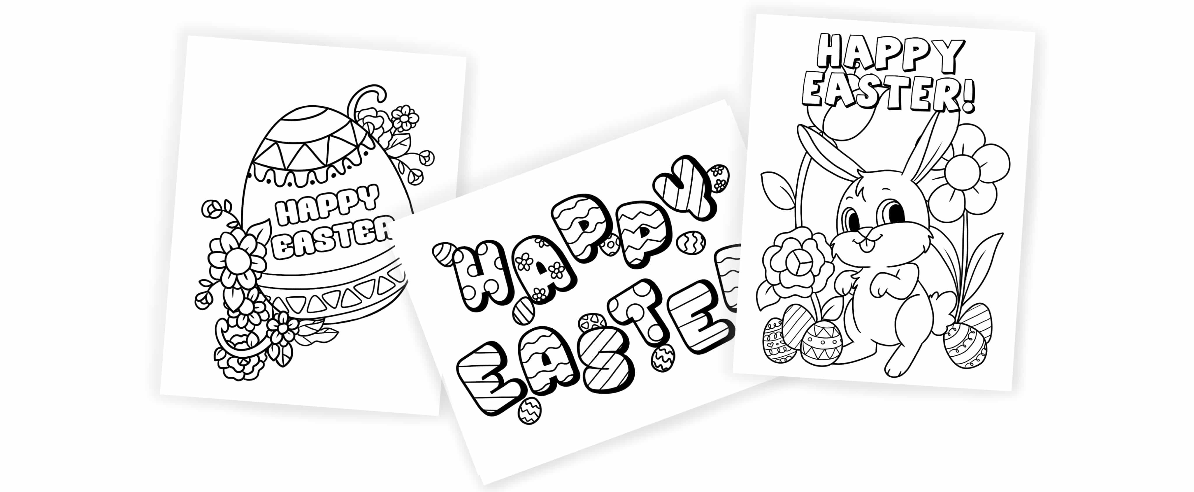 Don't waste money on expensive Easter cards when you can use these free printable Happy Easter coloring pages as DIY Easter cards that will be much more meaningful.