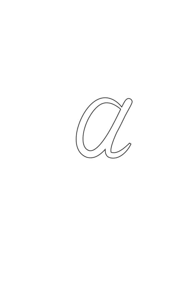 Free Printable Calligraphy Lowercase Letters Calligraphy Lowercase A