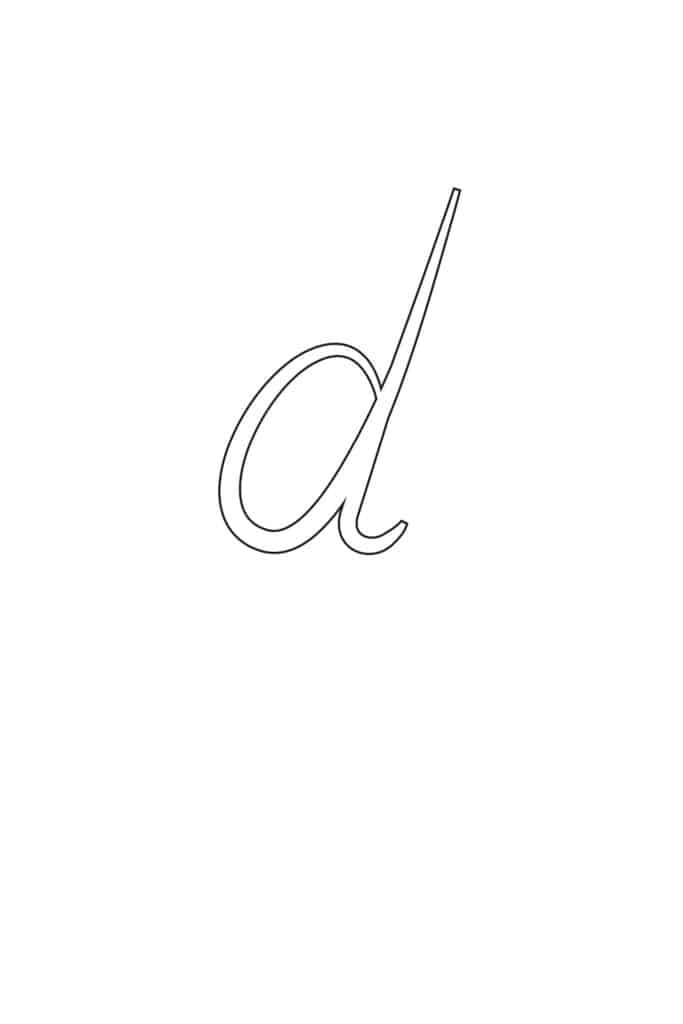 Free Printable Calligraphy Lowercase Letters Calligraphy Lowercase D