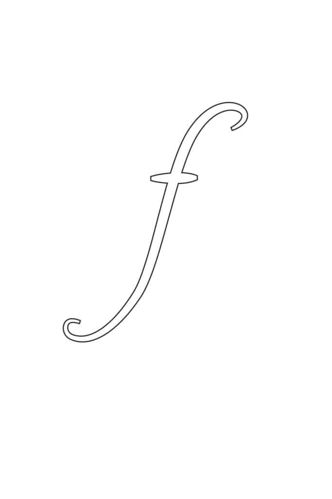 Free Printable Calligraphy Lowercase Letters Calligraphy Lowercase F
