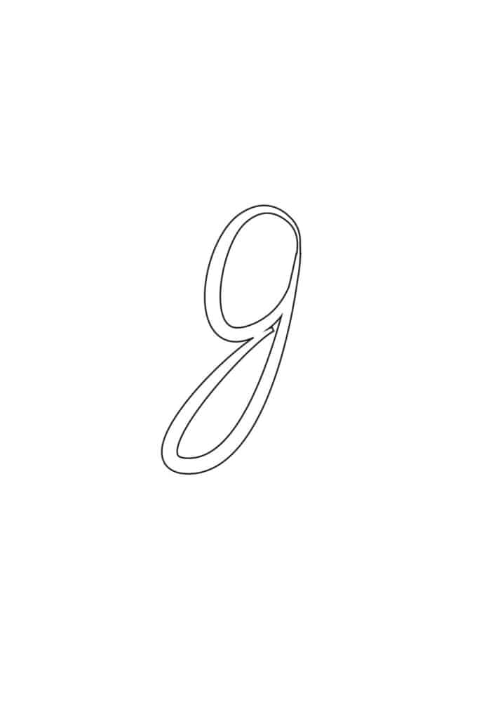 Free Printable Calligraphy Lowercase Letters Calligraphy Lowercase G