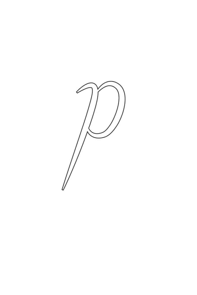 Free Printable Calligraphy Lowercase Letters Calligraphy Lowercase P