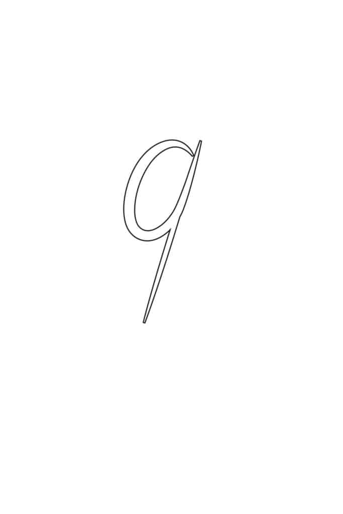 Free Printable Calligraphy Lowercase Letters Calligraphy Lowercase Q
