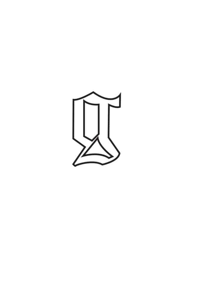 free printable gothic calligraphy lowercase letters gothic calligraphy lowercase G