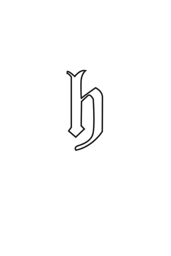free printable gothic calligraphy lowercase letters gothic calligraphy lowercase H