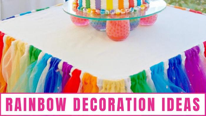 Rainbow table cloths are simple yet effective rainbow decoration ideas