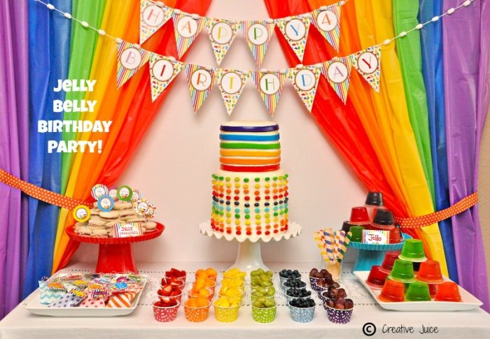 Rainbow party ideas don't have to be unhealthy, fruit can be a great way to add color and nutrition to the table!