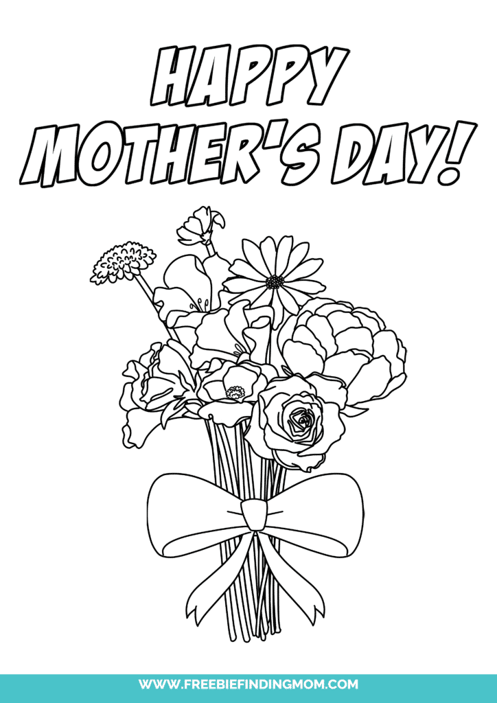 Give your mom a bouquet that will never wilt with the first of the Happy Mother's Day coloring pages!