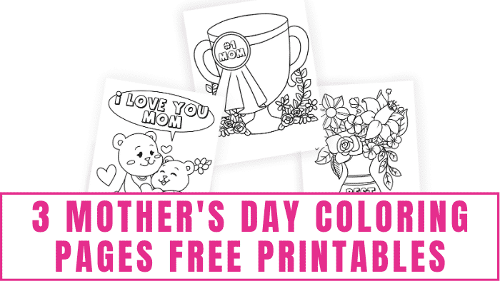 Choose any or all of these Mother's Day coloring pages free printables to decorate to wish your mom Happy Mother's Day!