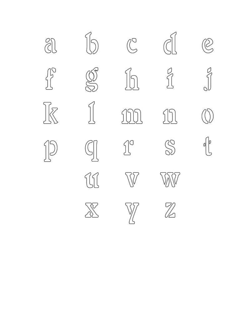 free alphabet stencils printable lowercase
