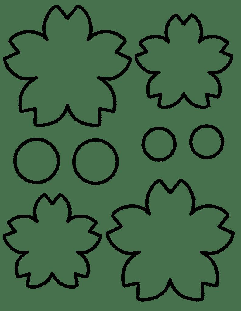 free flower template printable