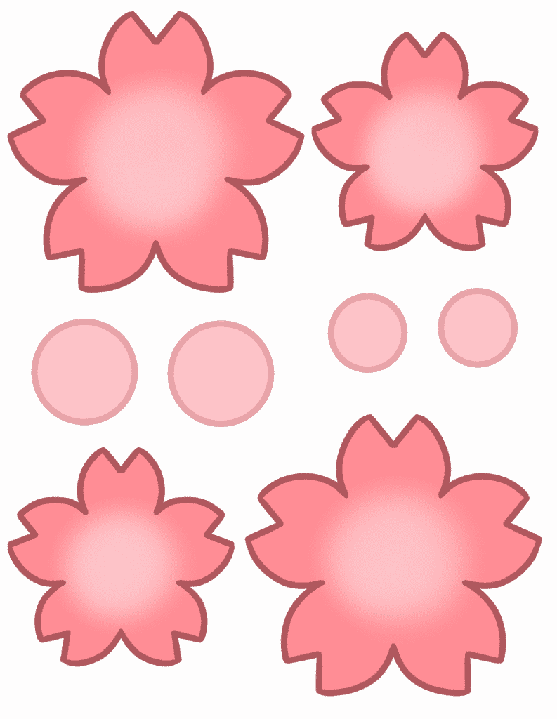 free flower template printable color