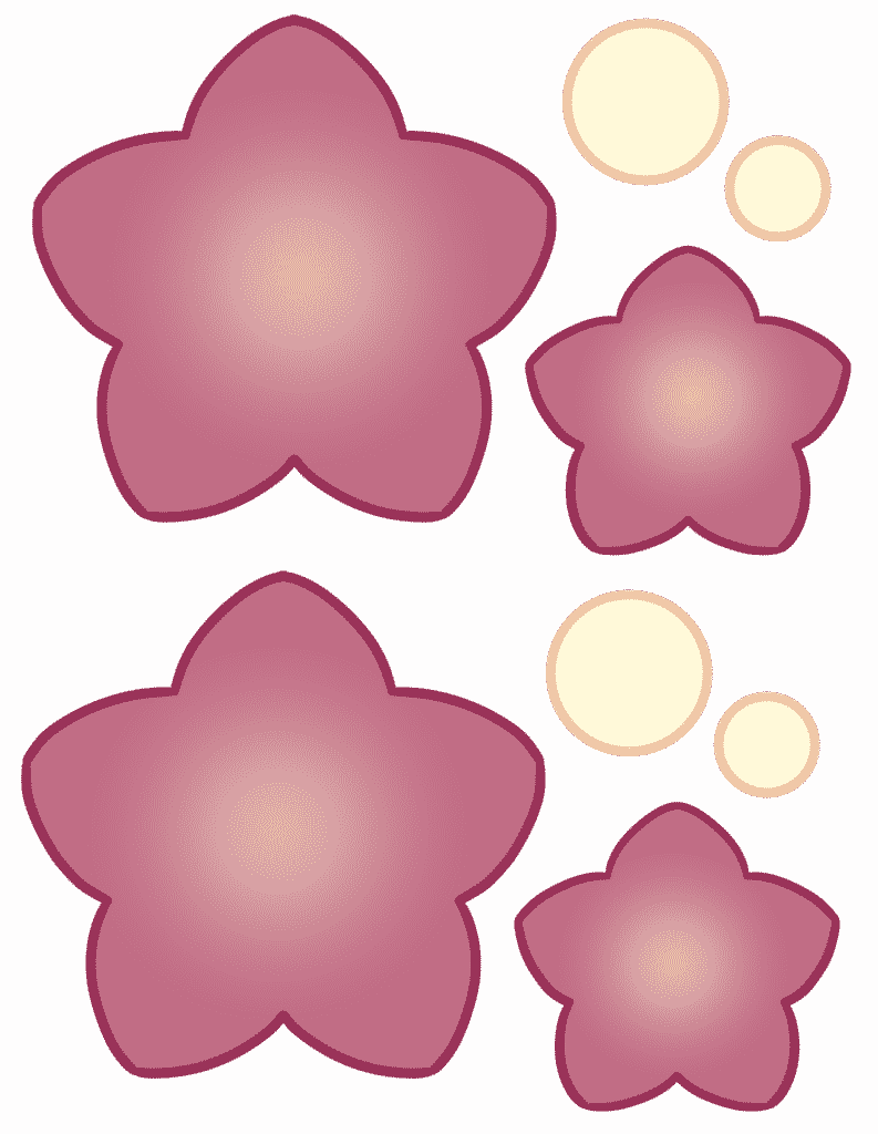 free printable 5 pedal flower template color