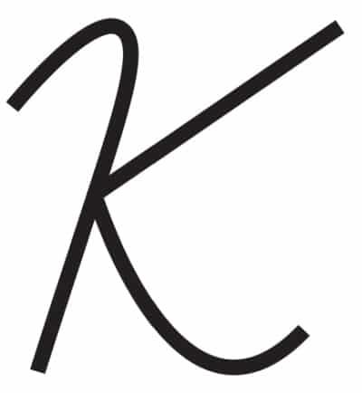 free printable cursive letters capital cursive K