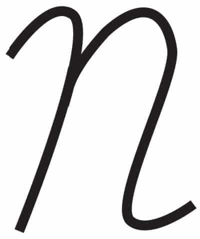 free printable cursive letters capital cursive N