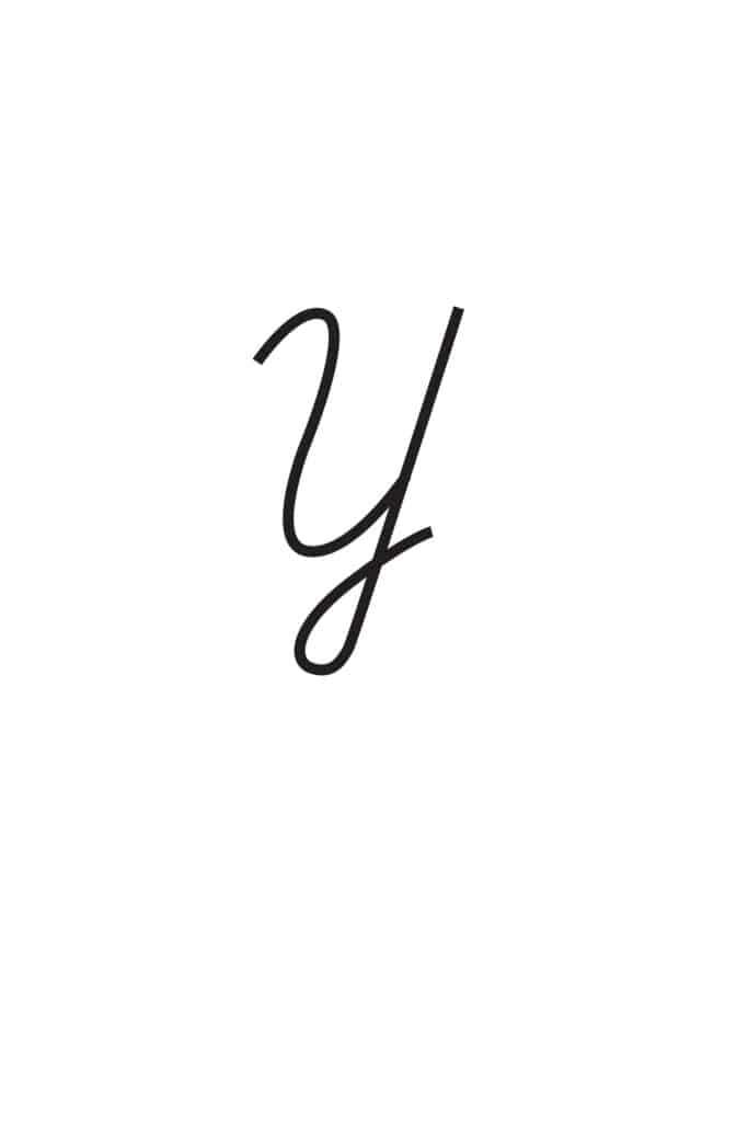 free printable cursive letters capital cursive Y